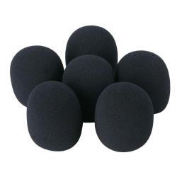 DWS-66 Plopkapset voor microfoons, 6 stuks, zwart