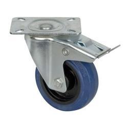 Blue Wheel, 100 mm zwenkwiel met rem