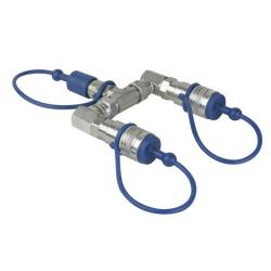 CO2 3/8 Q-Lock 2-way splitter