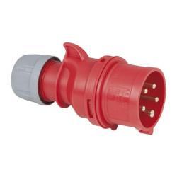 PCE CEE 16A 400V 5p Plug Male Rood, IP44