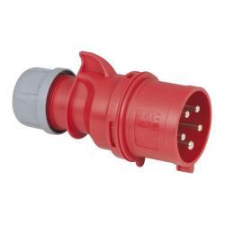 CEE 32A 400V 5p Plug Male Rood, IP44