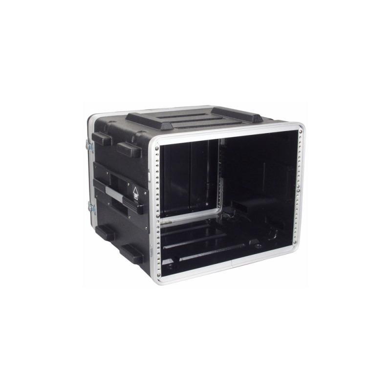 Flightcase kunststof, 19 inch rack, 8 HE, ABS, 2 deksels
