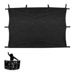 LED Star-Curtain DJ Booth 100 x 200 cm.