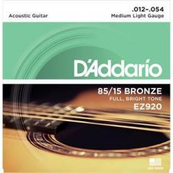 D'Addario EZ920 American Bronze 85/15 Medium Light 12-54