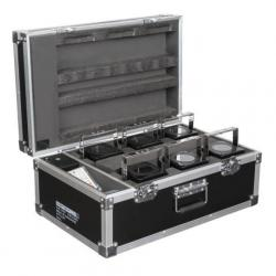 Set 6x Eventspot 60 Q7 zwart in flightcase