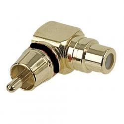 RCA Male to RCA Female 90° adapter black ring