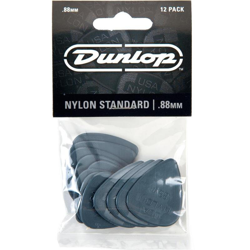 Dunlop plectrum nylon standaard .88mm 12pack