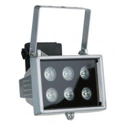 LED Floodlight 6x 1W, 40° Orange