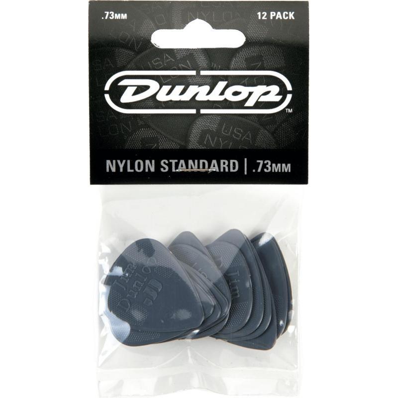 Dunlop plectrum nylon standaard .73mm 12pack