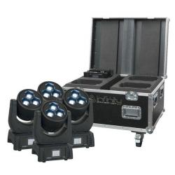 4 x Infinity iW-340 RDM Moving Head Washer in flightcase