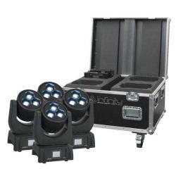 4 x Infinity iW-340 RDM Moving Head Washer in flightcase