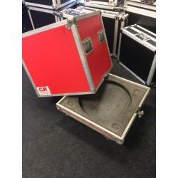 """Tophat flightcase voor 19"""" binnenrack 9 HE"""