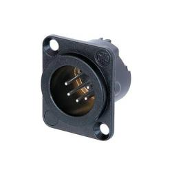 XLR 5p. Chassis Male TOP