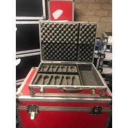 Flightcase t.b.v. microfoons