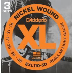 D'addario EXL110-3D 3-pack