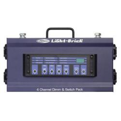 Lightbrick 4-kanaals dimmerpack DMX